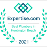 Expertise badge for top 15 plumbers in Huntington Beach